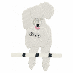 pood034 Poodle (small or large design)