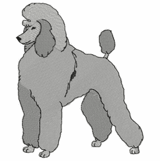pood037 Poodle (small or large design)