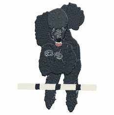 pood041 Poodle (small or large design)