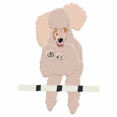 pood042 Poodle (small or large design)