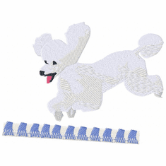 pood043 Poodle (small or large design)