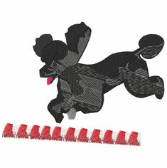 pood044 Poodle (small or large design)