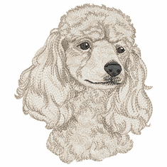 pood045 Poodle (small or large design)