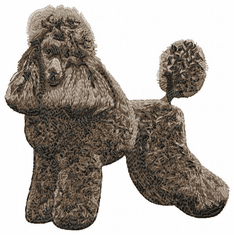 pood053 Poodle (small or large design)