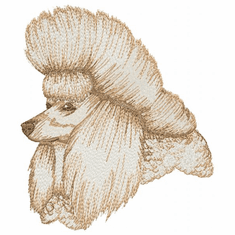 pood055 Poodle (small or large design)