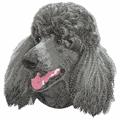 pood061 Poodle (small or large design)