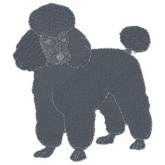 pood075 Poodle (small or large design)