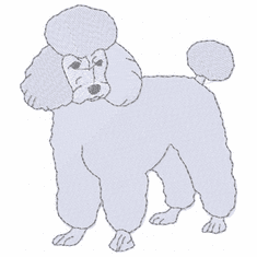 pood076 Poodle (small or large design)