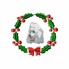 pood1wreath Poodle (small or large design)