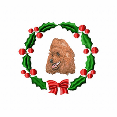 pood2wreath Poodle (small or large design)