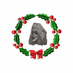 pood3wreath Poodle (small or large design)