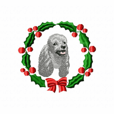 pood7wreath Poodle (small or large design)