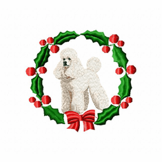 pood8wreath Poodle (small or large design)