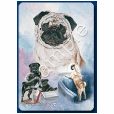 Pug Playing Cards