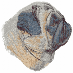 pug051 Pug (small or large design)