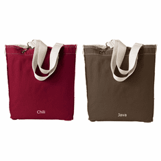Raw Edge Tote Bag (with large design)