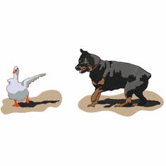 rott040 Rottweiler (small or large design)