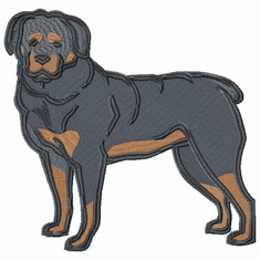 rott042 Rottweiler (small or large design)