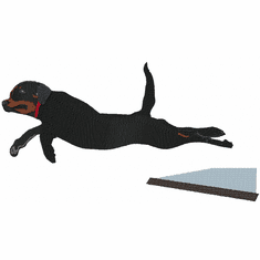 rott056 Rottweiler with tail jumping (small or large design)