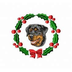 rottie2wreath Rottweiler (small or large design)