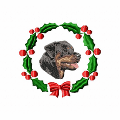 rottie3wreath Rottweiler (small or large design)