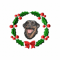 rottie5wreath Rottweiler (small or large design)