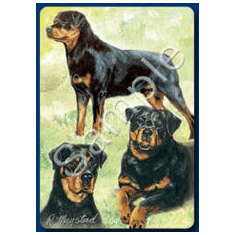 Rottweiler Playing Cards
