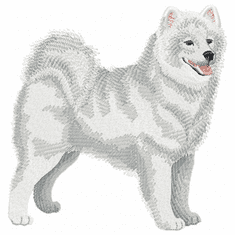 sam004 Samoyed (small or large design)