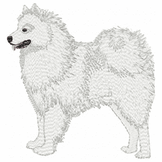 sam005 Samoyed (small or large design)