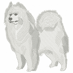 sam009 Samoyed (small or large design)