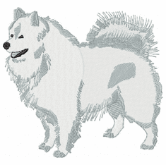 sam010 Samoyed (small or large design)