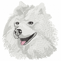 sam012 Samoyed (small or large design)