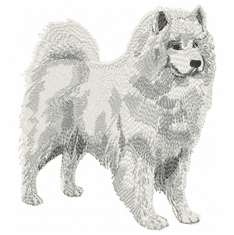 sam018 Samoyed (small or large design)