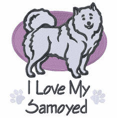 sam021 Samoyed (small or large design)