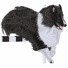 sheltie068 Shetland Sheepdog B&W (small or large design)