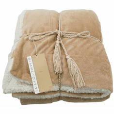 Sherpa Blanket (Throw) <br>with Small Design