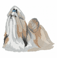 shih017 Shih Tzu (small or large design)