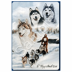 Siberian Husky Playing Cards