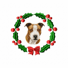 staff1wreath Staffordshire Bull Terrier (small or large design)