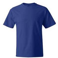 T Shirts with small embroidered design