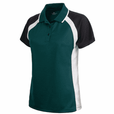 Womens Ares Button Polo with small design