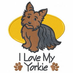yorkie016 Yorkshire Terrier (small or large design)