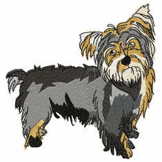 yorkie025 Yorkshire Terrier (small or large design)