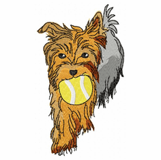 yorkie032 Yorkshire Terrier (small or large design)