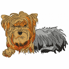 yorkie033 Yorkshire Terrier (small or large design)