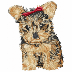 yorkie045 Yorkshire Terrier (small or large design)