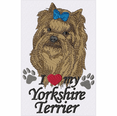 yorkie058 Yorkshire Terrier (small or large design)