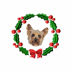 yorkie2wreath Yorkshire Terrier (small or large design)