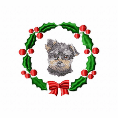 yorkie7wreath Yorkshire Terrier (small or large design)