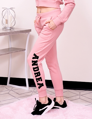 Custom Pink Hoodie and  Jogger Set